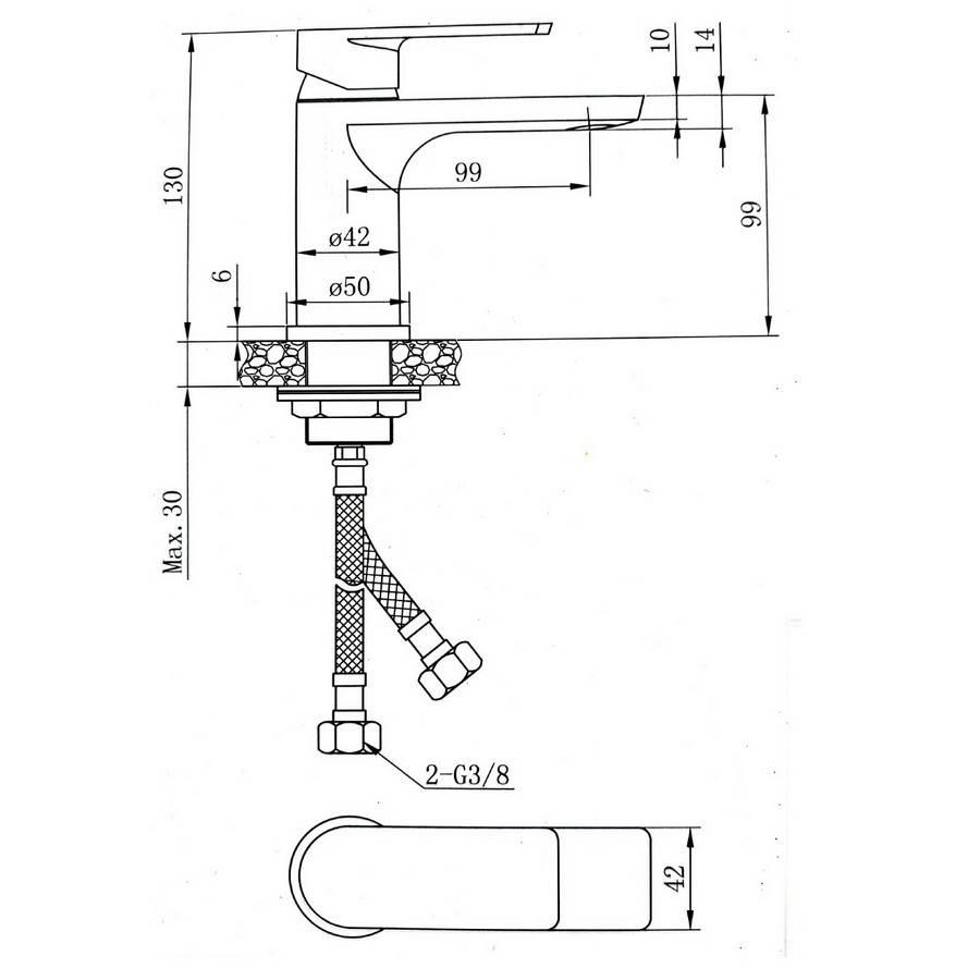 Izlietnes maisītājs RIVER 927-90