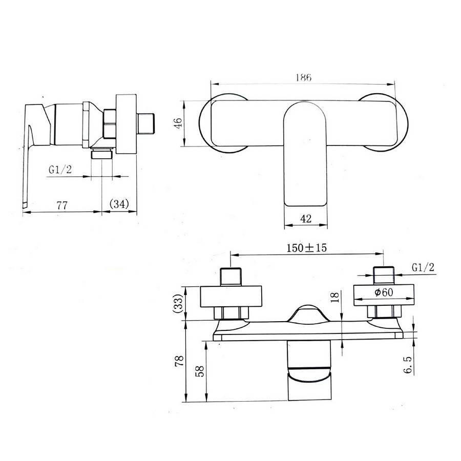 Dušas maisītājs RIVER 929-20